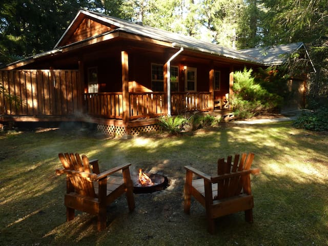 Cedarwood Cabin at Mount Rainier with Hot Tub