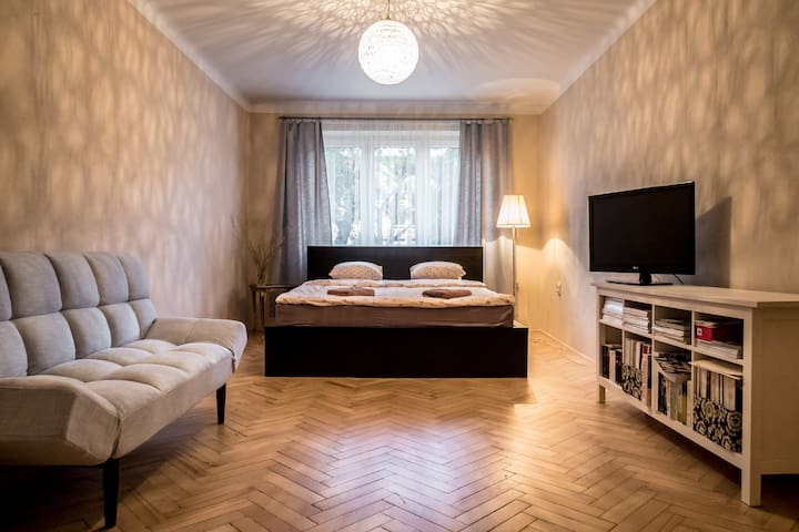 Lovely 60m2 Apartment near Centre - Prag - Daire