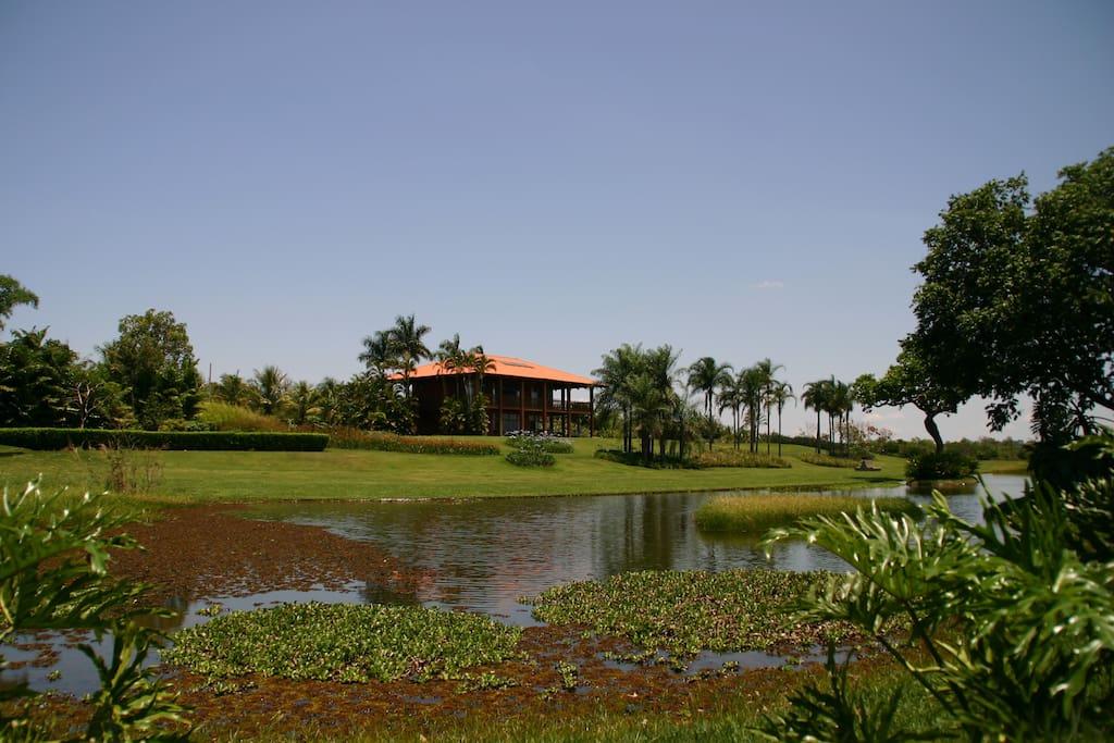 A look at the Amanari villa from the beautiful lake