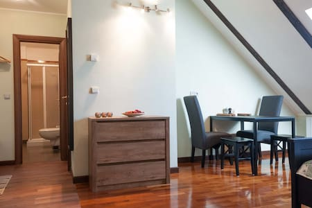 New attic flat with 2 bedrooms and kitchenette