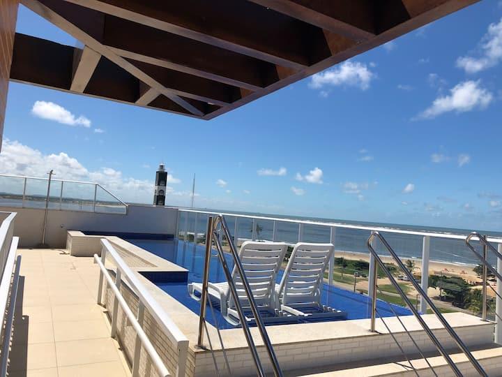 #De frente para o mar. Na orla de Aracaju.