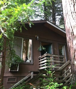 Private Cabin with Hot tub in Redwoods, Humboldt - アーケータ