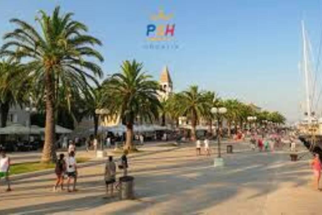 main promenade in Trogir