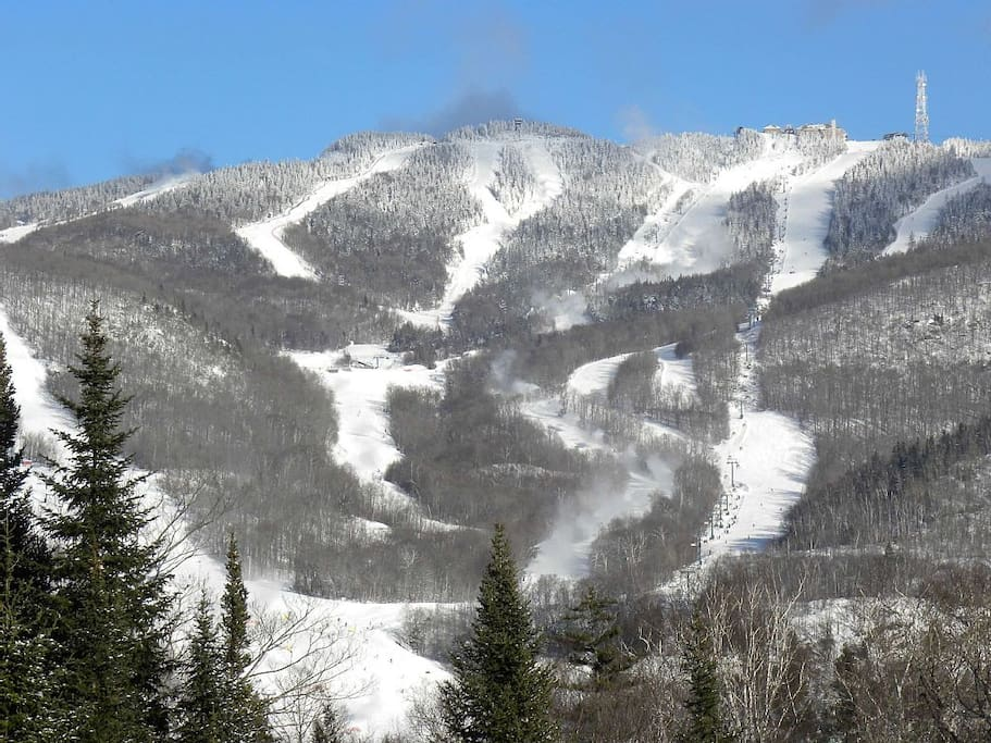 View of ski hill from side deck