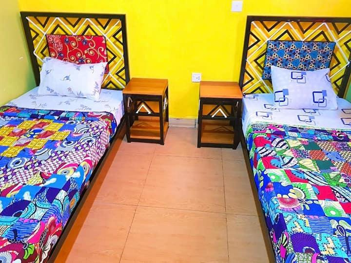 Budget Double Room & Breakfast @ Gikondo, Kigali