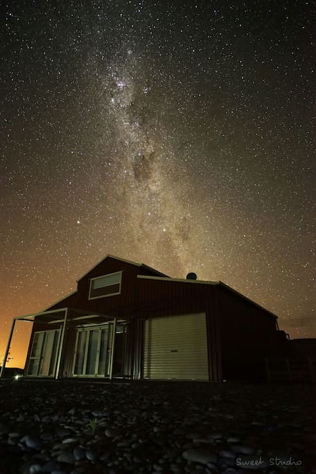 Stunning stars over the barn accommodation