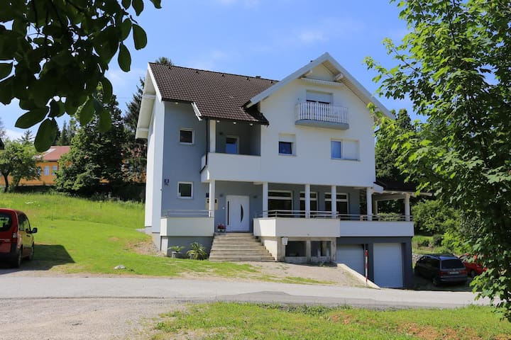 Two bedroom apartment with terrace Slunj (Plitvice) (A-17416-a)