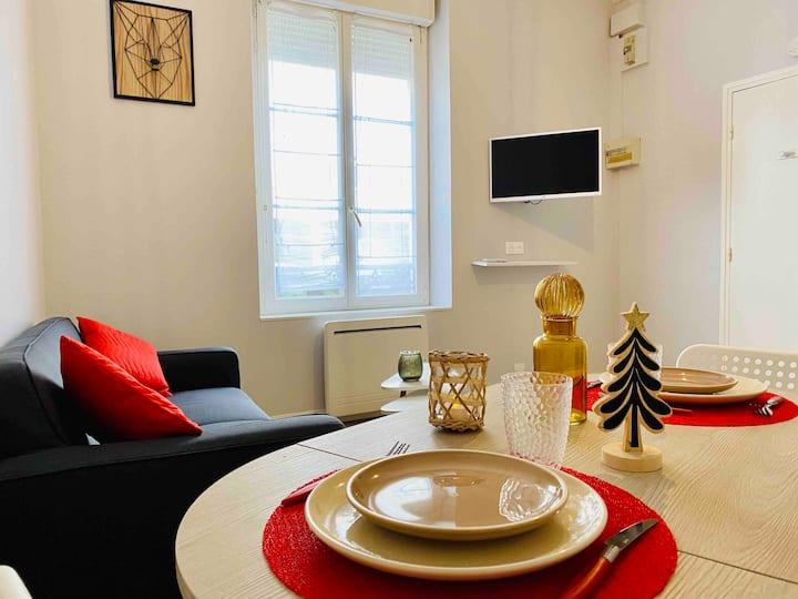 Appartement F2 meublé au cœur de Reims