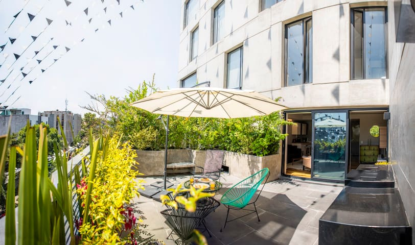 Huge apartment with terrace Roma Norte