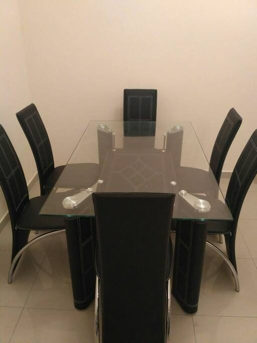 Actual dining table