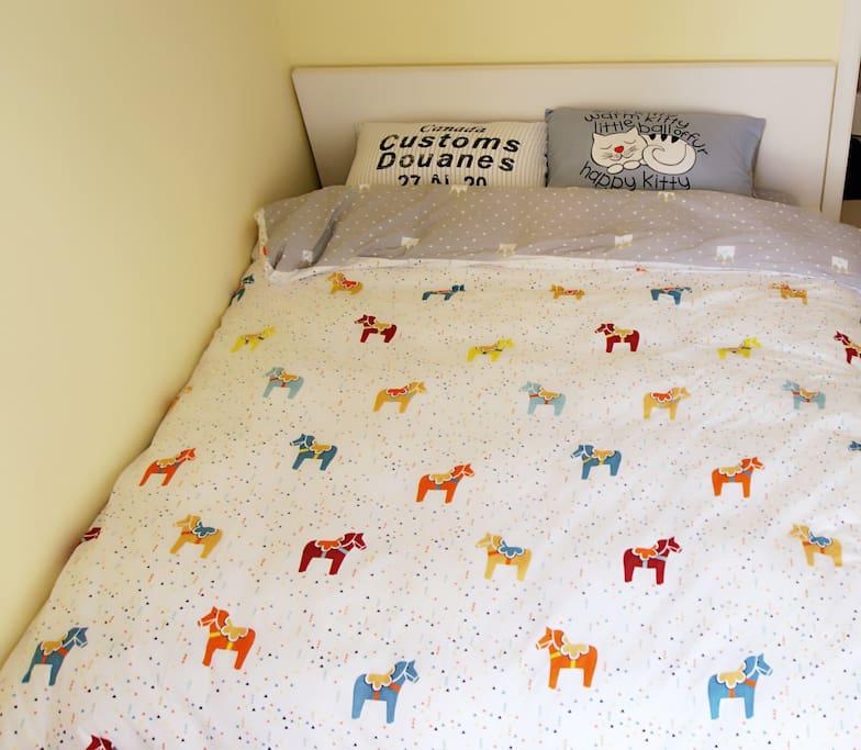 双人床,舒适双人被