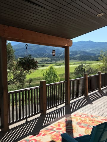 Sit on the front deck.