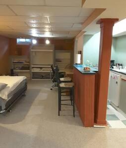A nice basement apartment.