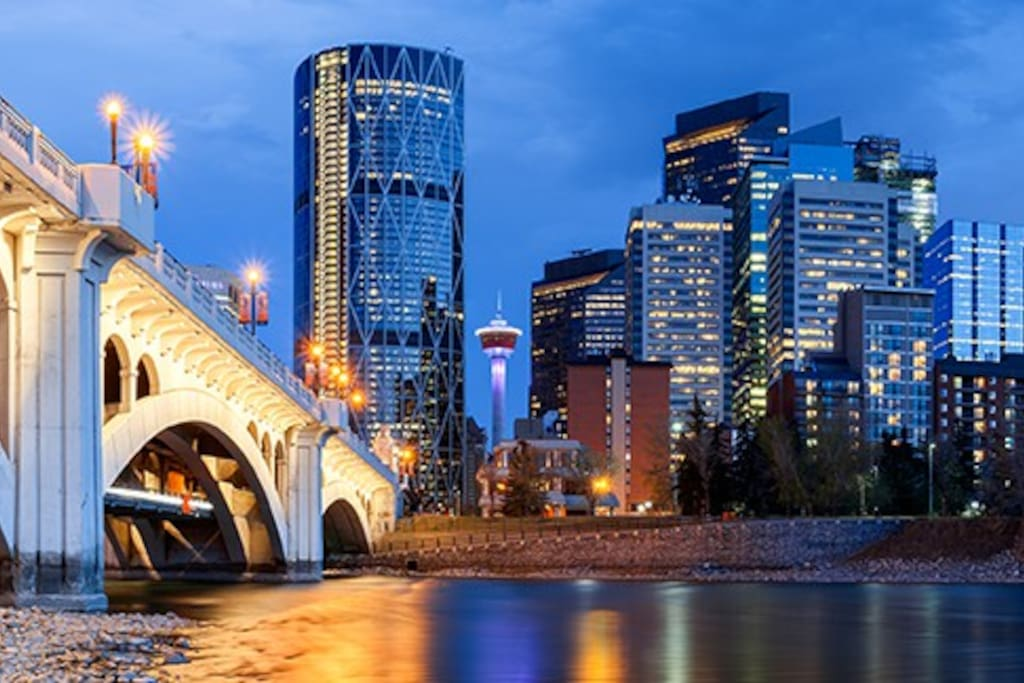 Calgary downtown night view!