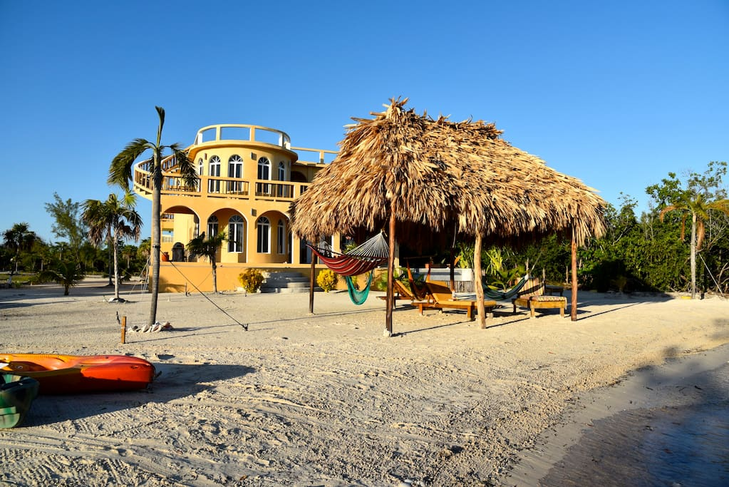 One of the nicest Rental House Beaches in all Belize.