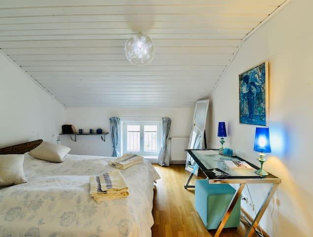 room 4/ blue room with ensuite bathroom - second floor
