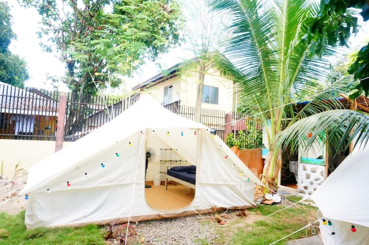 TENT with two single bed