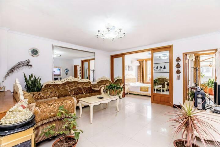临近避暑山庄,普宁寺,布达拉三居室甜馨公寓整租可住6——8人