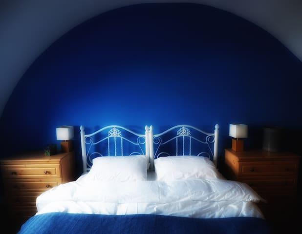 Blue bedroom Super King bed