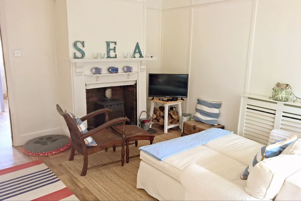 The Living room- with a woodburner for cosiness!