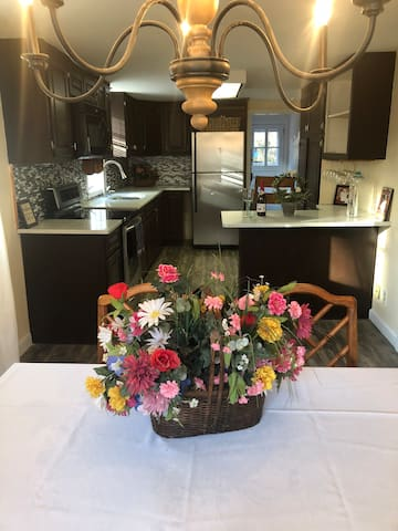Bright dining table