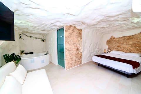 Apartamento rural cueva con jacuzzi