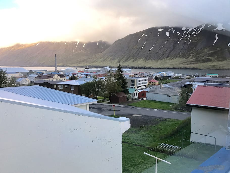 View over Siglufjörður, from master bedroom