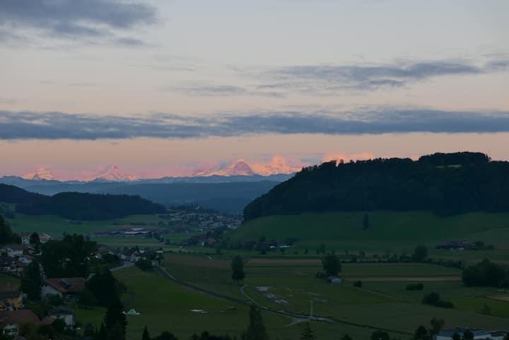 Geniale Aussicht,2.5 Zim, im Grünen,15 min in Bern