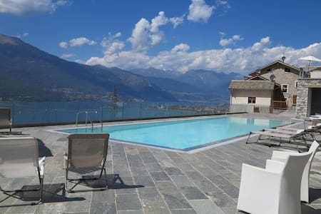 Luxury Pool Loft with lake view and parking space - Bellano - Huoneisto