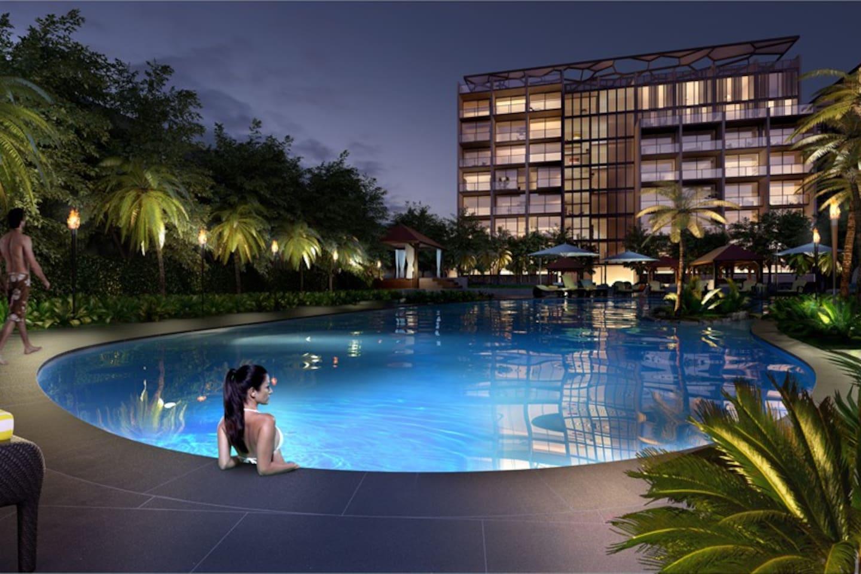 热带风情游泳池