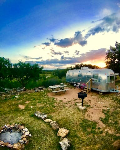 Llano River - Vintage Airstream