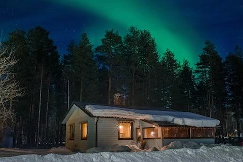 Rustic  Swedish Lapland  Cabin