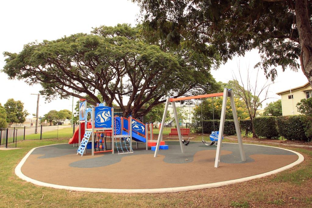 Kiddies park just across the road