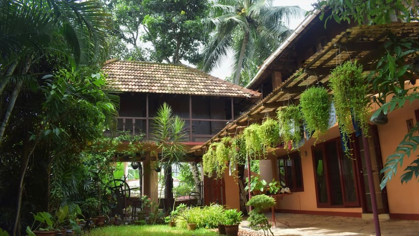 Tiny wooden traditional Kerala cabin