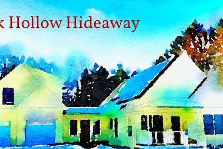 Creek Hollow Hideaway--near Cornell &  wine trails
