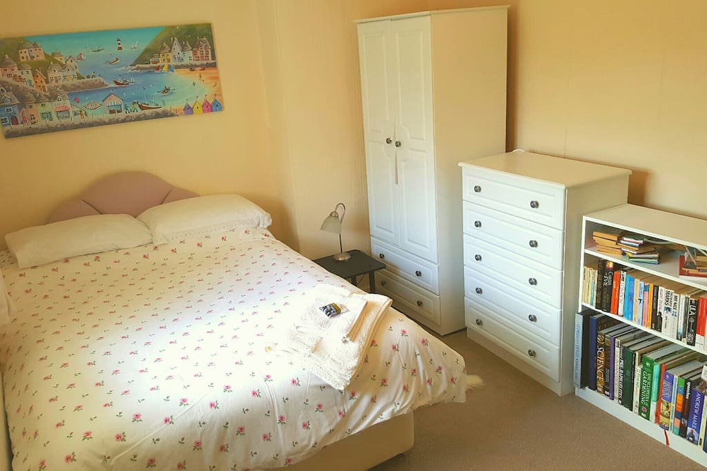 Double Bedroom with ensuite loo (main bathroom downstairs)