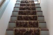 Stairs to studio apartment