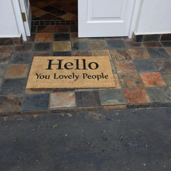 A warm welcome to our home