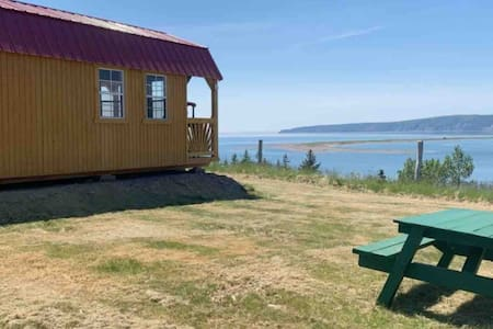 Tenting without the tent overlooking Bay of Fundy