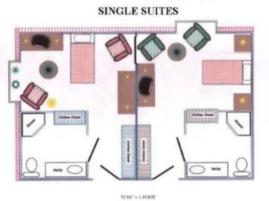 single unit layouts