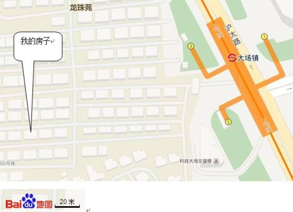距离上海地铁7号线3号口3分钟步行路程