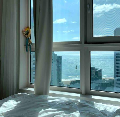 호텔침구#해운대 도보3분거리#오션뷰#Haeundae beach💟