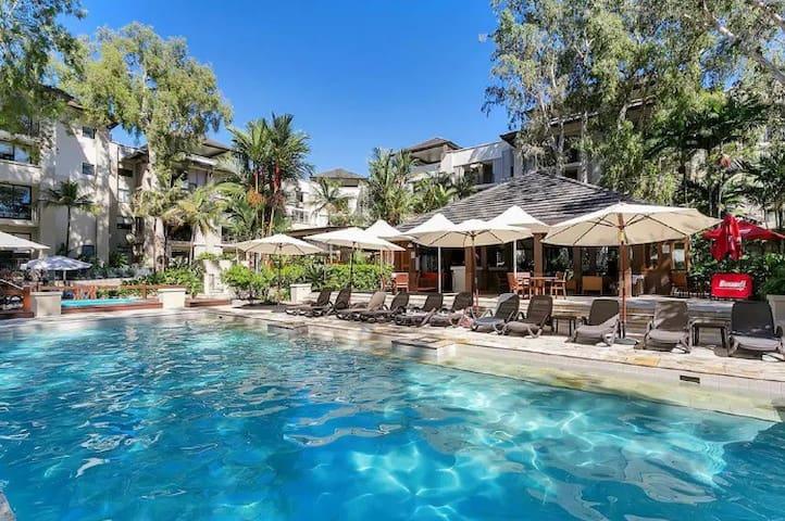 One of three beautiful swimming pools.