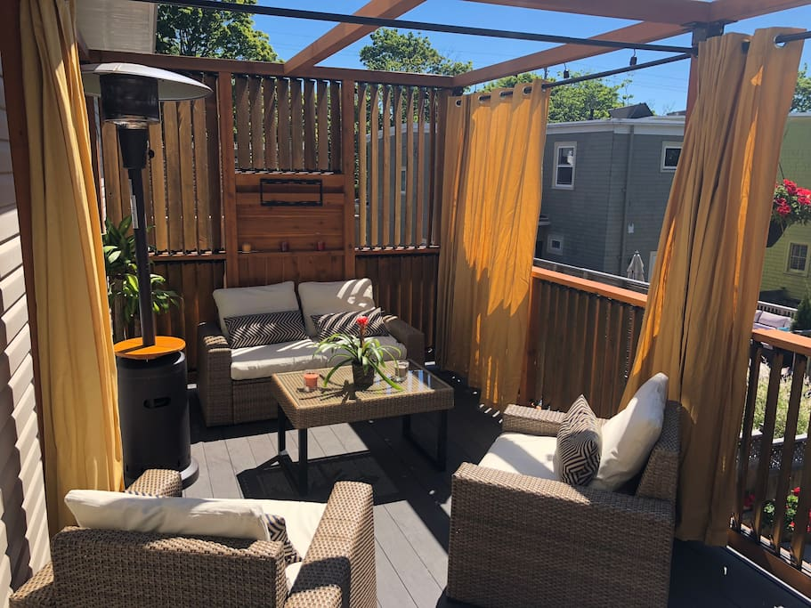 New Large Deck, July 2018 off Kitchen - Living Area