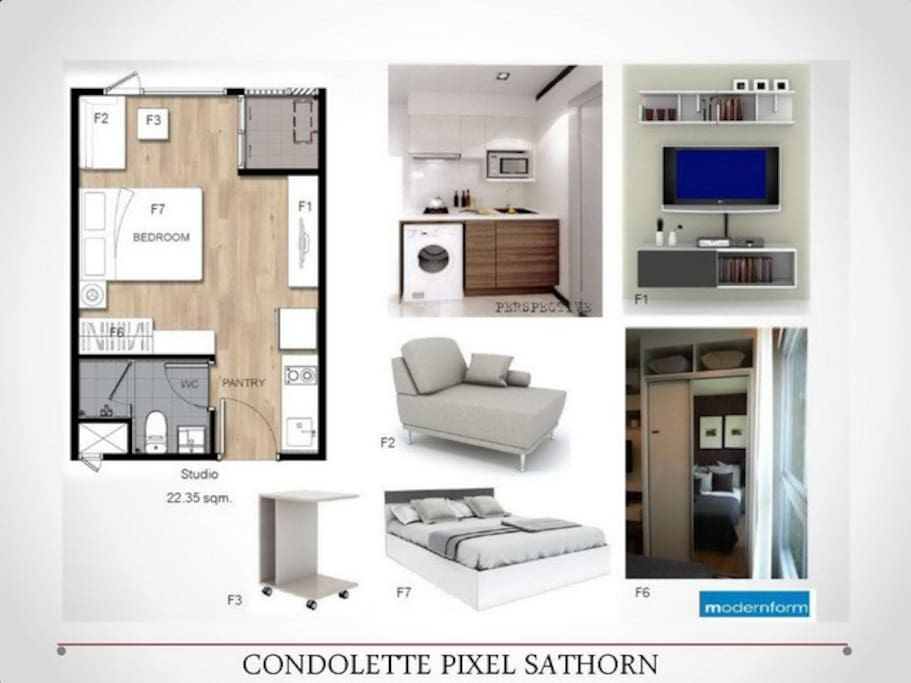 Room map#washing machince not service in room but front of condo have service only 30bath per 6 kg