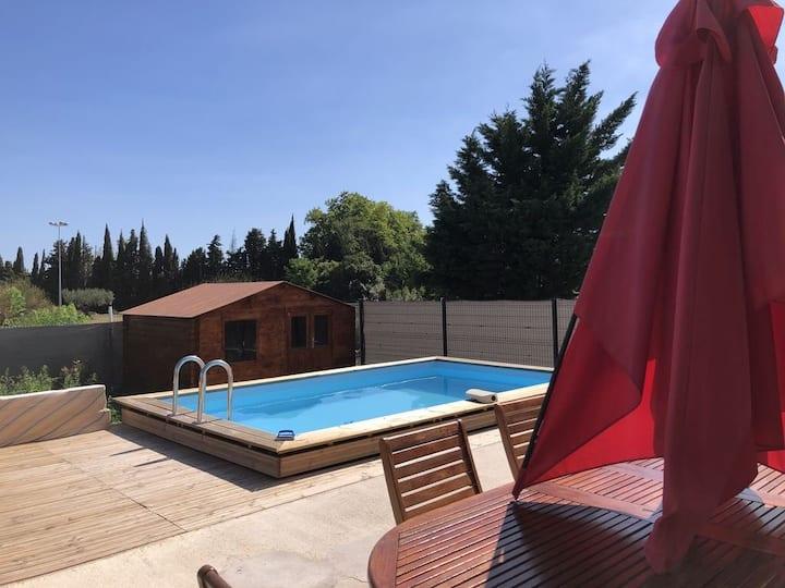 Villa et piscine privée Méditerranée