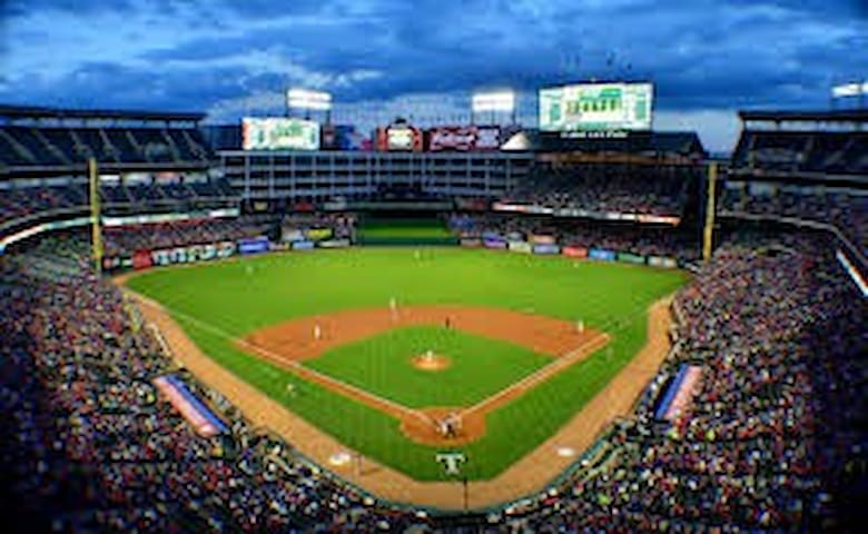 Globe Life Park, home of the Texas Rangers is a 10 minute Uber away!