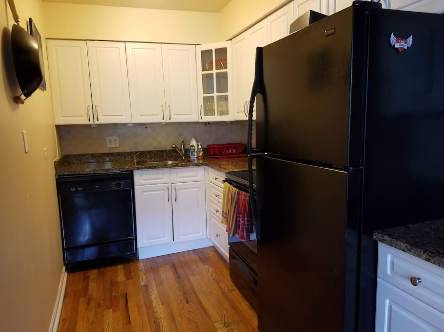 Kitchen for your use - stocked with snacks and coffee