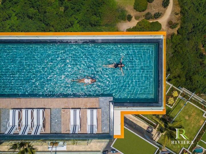 The Riviera Jomtien 芭提雅最新的临海奢华公寓,步行到海边3分钟设施完善,装修精美