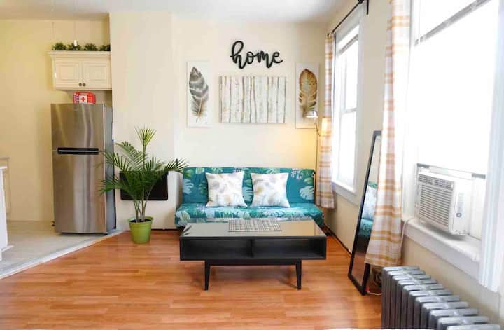 Roomy Bright Queen Suite, Free St Parking + Wifi